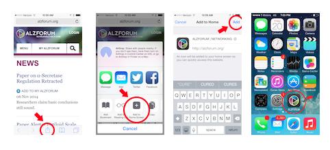 Alzforum Home Screen Shortcut On Apple Devices Alzforum